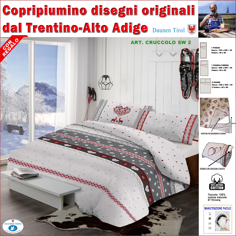 Sacco Copripiumino 155x200.Copripiumoni Daunen Tirol Parure Copripiumino 100 Morbido