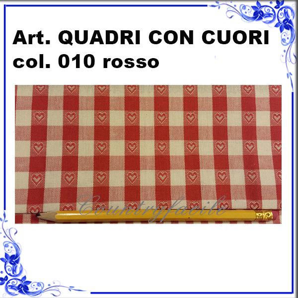 CAMPIONARIO ARLECCHINO : Quadri con cuori color rosso - Facilcasa