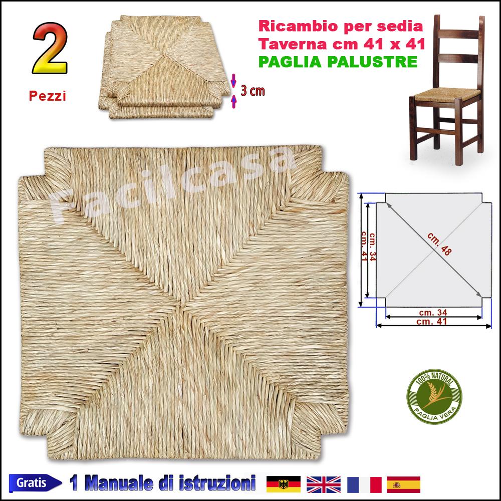 Sedili Di Ricambio Per Sedie.Sedute Per Sedie Pronte In Paglia Palustre 2 Seduta In Paglia